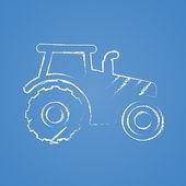 Modern farm icon — Stock Vector