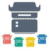 Vector illustration of modern icon — Stock Vector
