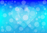 Heart  light on blue color background — Stock Vector