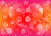 Abstract  light heart background — Stock Vector