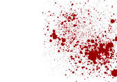 Abstract splatter red color isolated background — Vector de stock