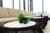 Modern interior living office — Stock Photo