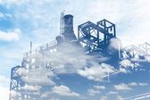 Oil refinery industrial, environment — Stock Photo