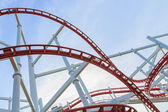 Loops of rollercoaster — Stock Photo