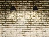 Gamla väggen och lampa inredning, 3d-rendering — Stockfoto