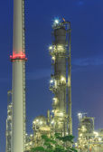 Oil refinery tower, industrial — Stock Photo