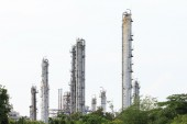 Oil refinery factory, industrial — Stock Photo