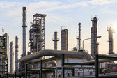 Oil refinery manufacturing — Stock Photo