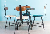 Vintage chair and table furniture — Foto de Stock