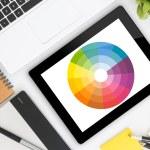 Creative graphic design's desk — Stock Photo #78885266