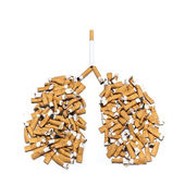 Concepts danger cigarettes for lungs — Stock Photo