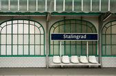 Metropolitan station in Paris (Stalingrad) — Stock Photo