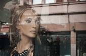 Mannequin in the showcase store — Стоковое фото