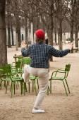 Tai chi in Tuileries garden in Paris — Stock Photo