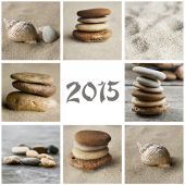 Zen collage 2015 — Stock Photo