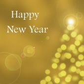 Abstract bokeh texture card - Happy new year 2015 — Stock Photo