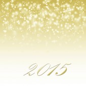 Abstract winter card happy new year 2015 — Stock Photo
