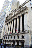 Wall street Stock exchange in Manhattan — Stock Photo