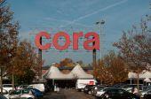 Mulhouse - France - 14 November 2014 - cora supermarket — Stock Photo
