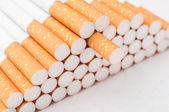 Cigarettes closeup on white background — 图库照片