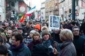 MULHOUSE - France - 11 January 2015 - March against Charlie Hebdo magazine terrorism attack, on January 7th, 2015 in Paris — Stock Photo