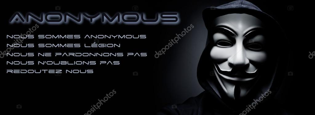 Anonymous Facebook Banner Paris - France - 17 Ja...
