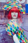 Renting disguise  in carnival store showroom — Stock Photo