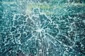 Broken glass texture — Stock Photo