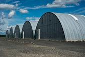 Hangar in aerodrome — Stock Photo