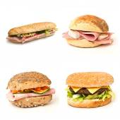 Sandwiches collage — Stock Photo