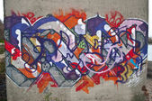 PARIS - France - 27 March 2015 - Graffiti on the wall — Stockfoto