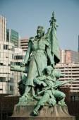 PARIS - France - 23 March 2015 - statue by  Louis-Ernest Barrias. - La defense quarter — Stock Photo