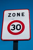 Zone 30 limitated indicate panel — Stock Photo