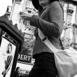 PARIS - France - 18 October 2013 - woman with hat in the street — Stock Photo #70525965
