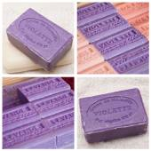 """savon de Marseille"" - french traditional  soap of Marseille - collage — Foto de Stock"