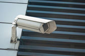 Electronic security video camera of surveillance — Stock Photo