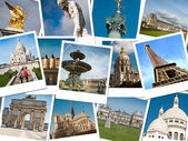 Pictures of Paris for memory - collage — Stock Photo