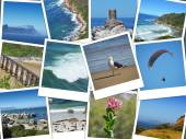 Cape of good hope - south africa instant pictures collage — Stock Photo