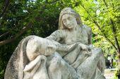 Angel-Marmor-Statue auf dem Friedhof — Stockfoto