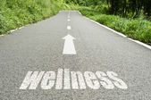 Concept signage  on the road the wellness and good health — Stock Photo