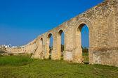 Panorama of Ottoman Kamares Aqueduct (Bekir Pasha Aqueduct) — Stock Photo
