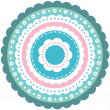 Ornamental circle floral template — Stock Vector #61994395