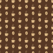 Coffee cups and beans seed. Seamless pattern background, vector illustration. — Stock Vector