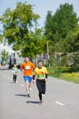 Maraton sportovci na ulici — Stock fotografie