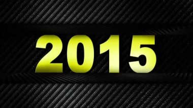 2015 New Year Gold Number — Stock Video