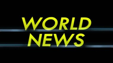 World News Only Text — Stock Video