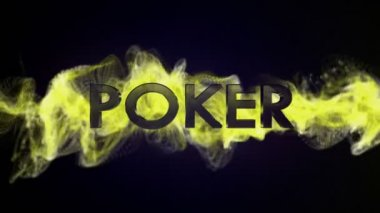 Poker Text in Particles — Stock Video