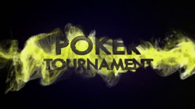 Poker Tournament Text in Particles — Stockvideo