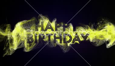 Happy Birthday Text in Particles — Stock Video