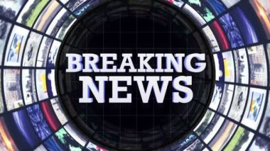 BREAKING NEWS Text Monitors Tunnel — Stock Video